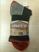 Шерстяные носки WoolPro 65% мерино, оранжевые размер 40-44