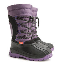 Детские зимние сноубутсы Demar Samanta B фиолетовые р.25-36 теплющие
