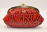Косметичка кожаная женская красная Christian Dior 916