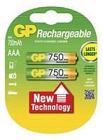 Аккумулятор GP AAA HR03 750 mAh NiMH, фото 1