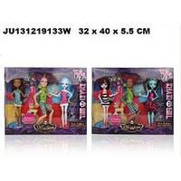 Набор кукл с аксессуарами MONSTER GIRL KQ008-A, кукoлкa Monster Girl, кукла детская, набор для девочки