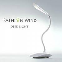 Настольная лампа с аккумулятором от USB декоративная KSB 188 B, светильник настольный, лампа прищепка