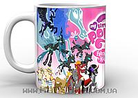 Кружка My little pony friendship is magic ponies vs 2 by deltaraen