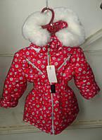 Зимняя куртка девочка Сова 92,98, 104 рост