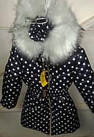 Зимняя куртка девочка Горох-а1, (110,116,122,128 рост)