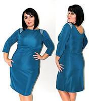 """Платье женское вечернее батал """"Блеск"""", миди, разные цвета, размеры от 48 до 56. Розница, опт в Украине."""