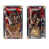 Детский игровой набор рыцаря 6925B-26B щит, меч, доспехи, 2 вида, на листе, 38-62-5см