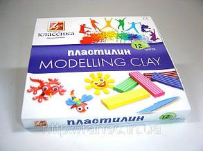 Пластилин 12  цветов Луч, фото 2