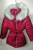 Зимняя куртка девочка Горох-а2, (110,116,122,128 рост)