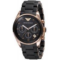 Часы Армани черные, кварцевые часы