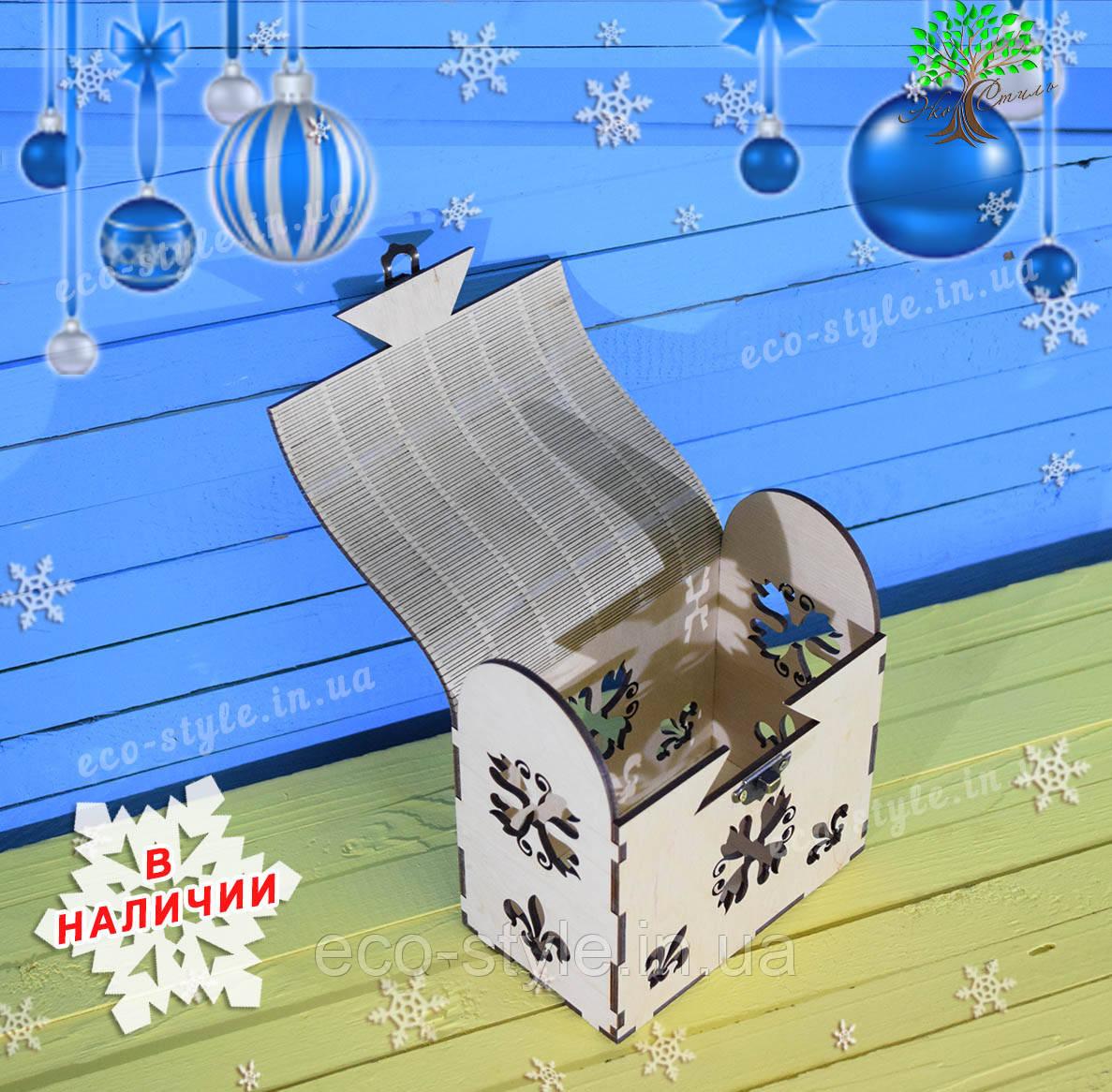 Деревянная шкатулка, подарочная упаковка, упаковка для новогодних подарков