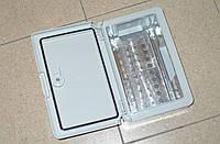 Настенный пластиковый распределительный шкафчик 300х200х130мм (100пар), с замком, IP65 (Турция)