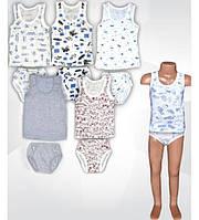 Комплекты детского нижнего белья,р.48-68. Майка+трусы