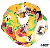 Снуд шифоновый с маками желтый, фото 1