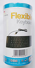 Гибкая силиконовая USB клавиатура для ПК UKC x3, фото 2
