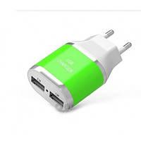 Адаптер на 2 USB 220V ES-D03 (цвета в ассортименте)