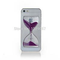 Liquid Crystal Clear Sand Clock Cover Case Purple для iPhone 6/6S