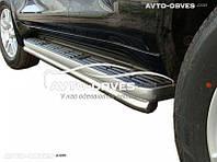 Защитные дуги для штатных порогов для Toyota Prado 150