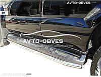 Защитные дуги для штатных порогов для Toyota Land Cruiser 200