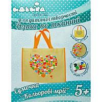 Роспись по ткани сумочка Цветные мечты 25х32см 96203