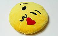 Подушки Смайлики с эмоциями ЭМОДЗИ поцелуй ( Emoji) + Подарок