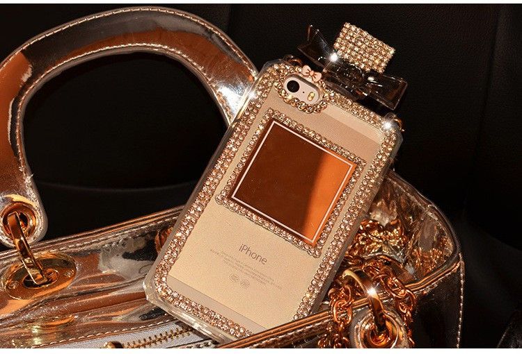 Rhinestone Diamond Perfume Bottle Case Clear для iPhone 6/6S Plus