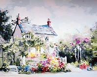 Картины раскраски по номерам 40×50 см. Сказочный домик Художник Марти Белл