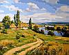 Картины раскраски по номерам 40×50 см. Украинский пейзаж Художник Артур Орленов