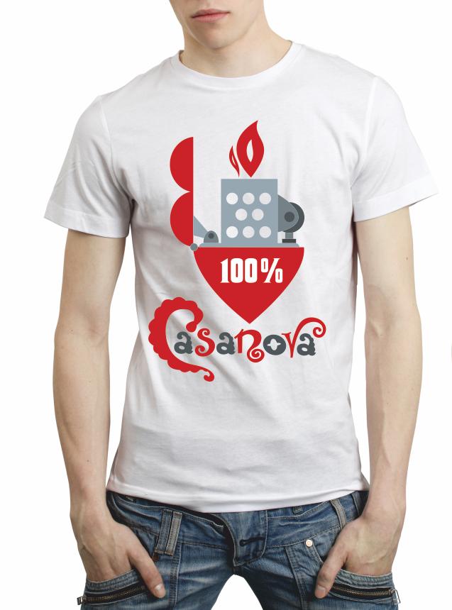 "Мужская футболка ""100% Casanova"""