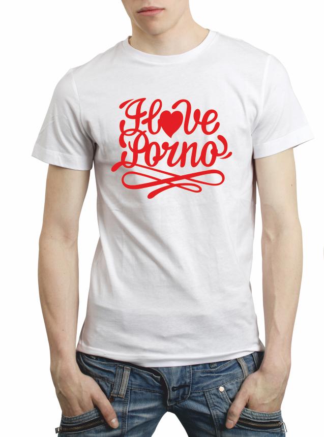 "Мужская футболка ""I love porno"""