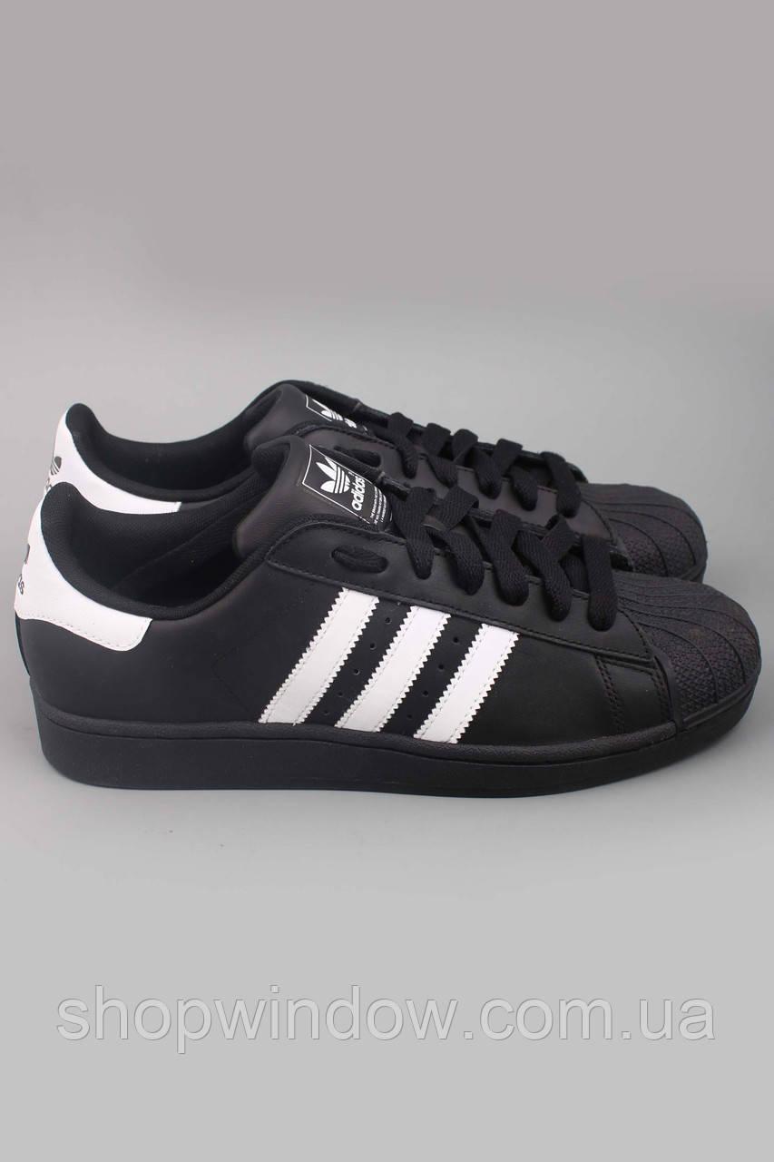 0c86d7c7 Кроссовки Adidas Superstar черные с белыми полосками и черной подошвой ( оригинал). Кроссовки Adidas