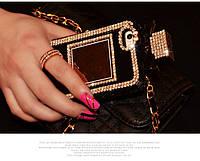 Rhinestone Diamond Perfume Bottle Case Black для iPhone 5/5s