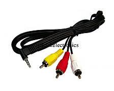 Кабель 3 RCA IN - 1 RCA OUT, межблочный кабель, rca переходник, конвертер rca, кабель переходник rca rca