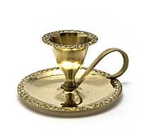 Подсвечник бронзовый с ручкой (9х8х4,5 см)