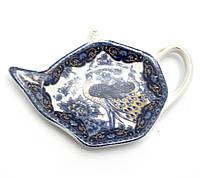 Подставка под чайные пакетики (11,5см.) (TBP1003-5) Павлин