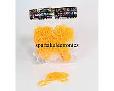 Резинки для плетения браслетов Loom Band LB001 (желтые), резиночки для браслетов, набор резинок loom bands