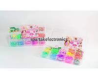 Набор разноцветных резинок для браслетов Loom Band LB012, резинки для плетения браслетов loom bands