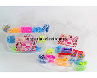 Резинки разноцветные для браслетов Loom Band LB014, плетение с резиночками, набор резинок loom bands