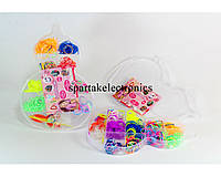 Резиночки для плетения браслетов Loom Band LB021, набор для плетения браслетов, разноцветные резинки