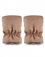 Раздельная теплая муфта для рук на ручку коляски, санок, золотой песок