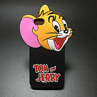 Cute 3D Cartoon Mouse Jerry Soft Silicone Case для iPhone 5/5s