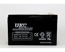 Аккумулятор BATTERY 12V 7A, герметичный кислотно-свинцовый аккумулятор, аккумуляторная батарея UKC 12V 7А