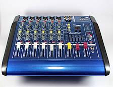 Аудио микшер Mixer BT-6200D 7ch., активный микшерный пульт, музыкальный аудио микшер