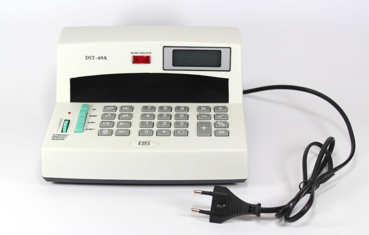 Детектор валют + калькулятор MONEY 69A, аппарат для проверки денег, портативный детектор валют - Интернет магазин 24Argo в Днепре