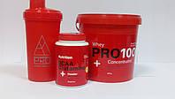 Комплект для набора сухой мышечной массы (протеин, ВСАА с глютамином + шейкер в подарок)