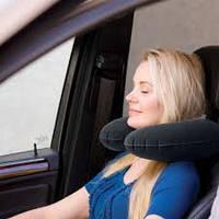 Надувная подушка подголовник для путешествий
