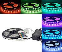 Светодиодная лента в комплекте 5050 RGB 5m complect 12v (разноцветная)