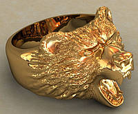 Кольцо из золота Медведь