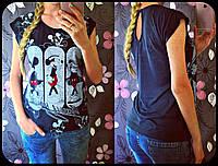Модная женская футболка с Микки Маусом