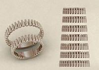Кольцо серебряное Пули